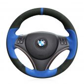 For BMW E90 325i 320i 330i 335i E87 120i 130i 120d, Custom Suede With Marker Steering Wheel Cover
