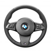 For BMW Z4 2009 2010 2011 2012 2013 2014, Genuine Leather Sides Perforated Hand Sew Wrap Steering Wheel Cover