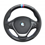 For BMW F20 2012-2018 F45 2014-2018 F30 F31 F34 2013-2017 F32 F33 F36 2014-2018,  Hand Stitched Steering Wheel Cover