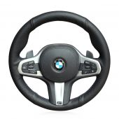 For BMW G30 525i 530i 530d M550i M550d 2017 2018 G32 630i 640i M 2017 2018,  Customize Genuine Leather Stitched Steering Wheel Cover