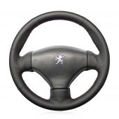For Peugeot 206 1998-2005 206 SW 2003-2005 206 CC 2004 2005, Customize Genuine Leather Suede Hand Sewing Cover Steering Wheel Skin