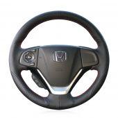 For Honda CRV CR-V 2012 2013 2014 2015 2016, Design Genuine leather Suede Steering Wheel Cover