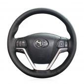 For Toyota Highlander 2014 2015 2016 2017 2018 2019 Sienna 2015-2019, Custom Hand Sew Steering Wheel Cover