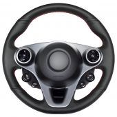 For Smart New Fortwo Forfour 2015-2017, Customize Your Genuine Leather Suede Sewing Steering Wheel Wrap Cover