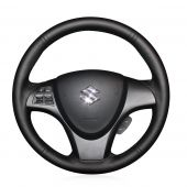 For Suzuki kizashi 2010, Customize Genuine Leather Suede Hand Stitch Protector Steering Wheel Cover
