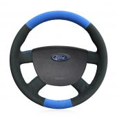 For Ford Focus 2 2005-2011 Kuga 2008-2011 C-MAX 2007-2010, Design Hand Sewing Wrap Steering Wheel Cover