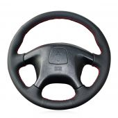 For Mitsubishi Pajero Old Mitsubishi Pajero Sport, Custom Genuine Leather Hand Sewn Steering Wheel Cover