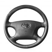 For Toyota Avalon 2002 2003 2004  Camry 2002 2003 2004 Highlander 2001 2002 2003, Design Hand Sewn Steering Wheel Cover