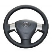 For Toyota Corolla 2009-2013 Matrix 2009-2010 Auris 2007 2008 2009, Leather Suede Sewing Steering Wheel Cover