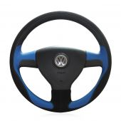 For Volkswagen Old VW Golf Polo Sagitar Lavida 2010 Polo, Customize Hand Stitched Steering Wheel Wrap Cover
