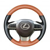 For Lexus ES300h 2016 2017 2018 ES350 2016 2017 2018,  Brown Black Artificial Leather Hand Sew Steering Wheel Wrap Cover