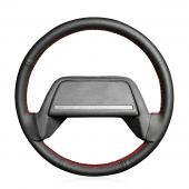 For Lada 2108-2115, Design Your Leather Suede Sewing Steering Wheel Cover