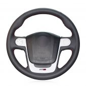 For MG3, Design Genuine Leather Suede Hand Sewn Wrapped Steering Wheel Cover
