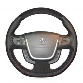 For Peugeot 508 2011-2008 508 SW 2011-2008, Customize Your Leather Suede Sewing Cover Steering Wheel Protector