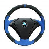 For BMW 530 523 523li 525 520li 535 545i E60 ,  Leather Suede Hand Sewing Steering Wheel Cover Skin
