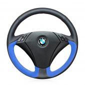 For BMW 530 523 523li 525 520li 535 545i E60,  Custom Leather Suede Hand Sewing Steering Wheel Wrap Cover