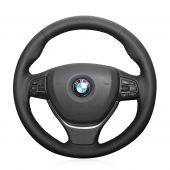 For BMW F10 2014 520i 528i 2013 2014 730Li 740Li 750Li,   Custom Leather Suede Steering Wheel Cover