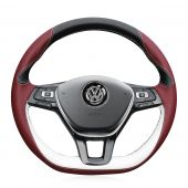 For Volkswagen VW Golf 7 Mk7 New Polo Jetta Passat B8 Tiguan 2017 Sharan 2016 2017 Touran 2016 2017 Up, Leather Steering Wheel Cover