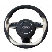 For Audi A1 A3 A5 A7, Design Your Leather Hand Sew Wrap Steering Wheel Cover