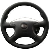 For Nissan Almera 2000-2003, Design Genuine Leather Suede Stitch Wrapped Steering Wheel Cover