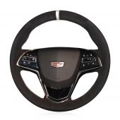 For Cadillac ATS 2013 2014 2015 CTS 2014 2015 2016, Design Leather Suede Steering Wheel Cover