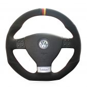 For Volkswagen Golf 5 Mk5 GTI VW Golf 5 R32 Passat R GT 2005,  Custom Hand Stitched Steering Wheel Cover