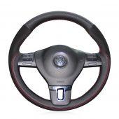 For Volkswagen VW Gol Tiguan Passat B7 Passat CC Touran Jetta Mk6, Design Leather Suede Steering Wheel Cover