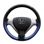 For Honda City 2007 2008 Fit 2007 2008 Jazz 2007 2008, Design Leather Suede Hand Sew Steering Wheel Cover