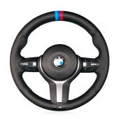 For BMW F87 M2 F80 M3 F82 M4 M5 F12 F13 M6 F85 X5 M F86 X6 M F33 F30 M, Custom Hand Sew Steering Wheel Wrap Cover