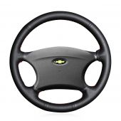 For Chevrolet Niva 2002-2009 Lada 2110 2011-2014, Custom Hand Stitch Wrap Steering Wheel Cover