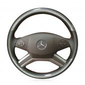 For Mercedes M-Class M300 350 2009-2011 R-Class R300 320 350 400 500 2010-2017 GL-Class 2010-2012, Custom Carbon Fiber Leather Steering Wheel Cover