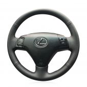 For Lexus GS300 2004 2005 2006 2007 ES250 2005, Customize Leather Sides Perforated Stitch Wrap Steering Wheel Cover