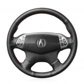 For Acura TL 2004 2005 2006, Customize Genuine Leather Sides Perforated Hand Stitch Steering Wheel Cover