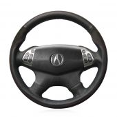 For Acura TL 2004 2005 2006, Custom Leather Suede Hand Sewing Wrap Steering Wheel Cover