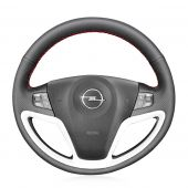 MEWANT Hand Stitch Customize Genuine Leather Car Steering Wheel Cover for Opel Antara 2007 2008 2009 2010 2011