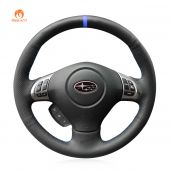 MEWANT PU Leather Real Genuine Leather Car Steering Wheel Cover for Subaru Forester 2008-2012 / Impreza 2008-2011 / Legacy 2008-2010 / Outback 2008-2009 / Impreza WRX (WRX STI) 2008-2014 / Exiga 2009