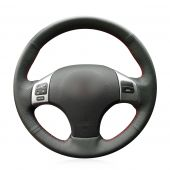 MEWANT Hand Stitch Black PU Leather Real Genuine Leather Suede Car Steering Wheel Cover for Lexus IS IS250 IS250C IS300 IS300C IS350 IS350C F SPORT 2005-2011
