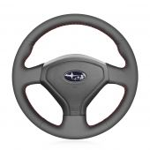 For Subaru Forester 2005 2006 2007 2008 Impreza Impreza WRX (WRX STI) Legacy Outback 2005 2006 2007,MEWANT DIY Black Leather Steering Wheel Cover Wrap Protected