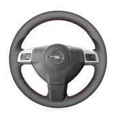 MEWANT Hand Stitch Customize Leather Suede  Car Steering Wheel Cover Skin for Opel Astra 2004 2005 Opel Corsa 2009 Opel Zaflra 2004 2005 2006