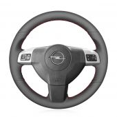 MEWANT Hand Stitch Black Real Genuine Leather PU Leather Car Steering Wheel Cover for Opel Astra Zaflra Signum Vectra for Holden Astra