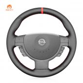 MEWANT Hand Stitch Black PU Leather Real Genuine Leather Car Steering Wheel Cover for Opel Corsa C Combo C Vauxhall Corsa C Holden Barina Tigra