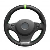 MEWANT Hand Stitch Car Steering Wheel Cover for BMW X3 E83 2004-2010 / X5 E53 2004-2006