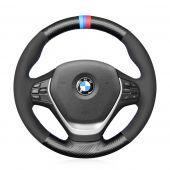 MEWANT Carbon Fiber Suede Car Steering Wheel Cover for BMW 1 Series F20 F21 2 Series F22 3 Series F30 4 Series F32
