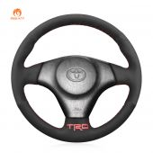 MEWANT Hand Stitch Black Suede Car Steering Wheel Cover for Toyota RAV4 Celica Matrix MR2 Supra Voltz Caldina MR-S Corolla Lexus IS 200 300
