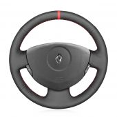 For Renault Clio 2 2001 2002 2004 2004 2005 Dacia Sandero 2008 2009 2010 2011 2012,MEWANT Custom Hand-stitched Leather Steering Wheel Cover Protected