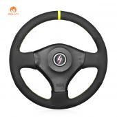 MEWANT Hand Stitch Black Suede Car Steering Wheel Cover for NissanSkyline R34 GTR GT-R (BNR34) 1999-2002