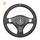 MEWANT Black PU Leather Real Genuine Leather Suede Car Steering  Wheel Cover for Nissan200SXS152001-2002/Silvia1999-2000/SkylineR34GTRGT-R1998-2001
