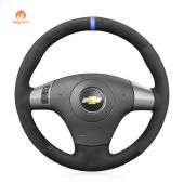 MEWANT Hand Stitch Black Suede Car Steering Wheel Cover forChevroletMalibu HHR Cobalt forPontiacG5 G6Solstice Torrent