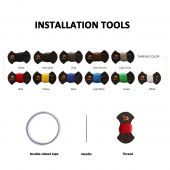 Installation tools - 1 pc Thread, 1 pc double sided tape and 1 pc Needle