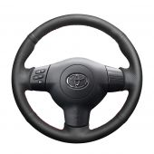 For Toyota Corolla 2004 2005 2006  Caldina 2002-2007 RAV4 (US) 2004-2005 Scion tC 2005-2010, Custom Genuine Leather Hand Sew Steering Wheel Cover